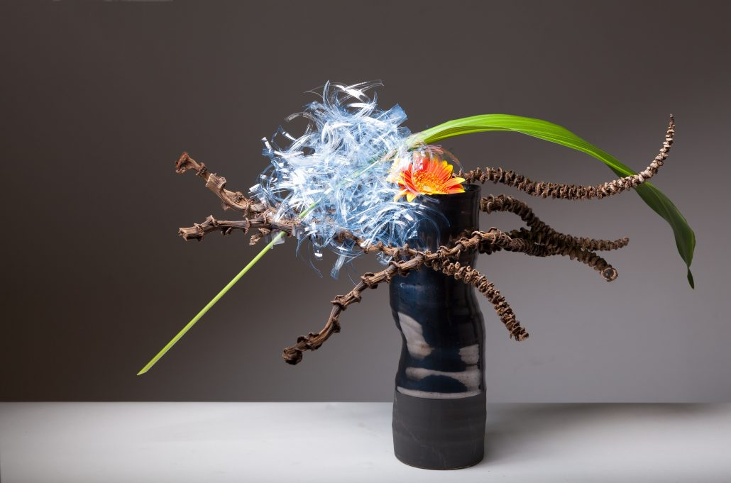 Sogetsu Ikebana Free Style Fresh and Unconventional Material