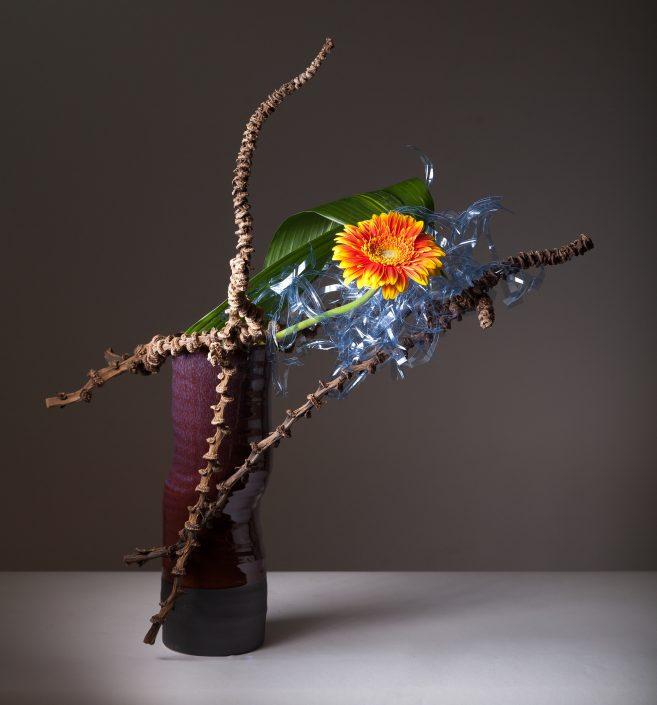 Sogetsu Ikebana Materiale Fresco e non Convenzionale