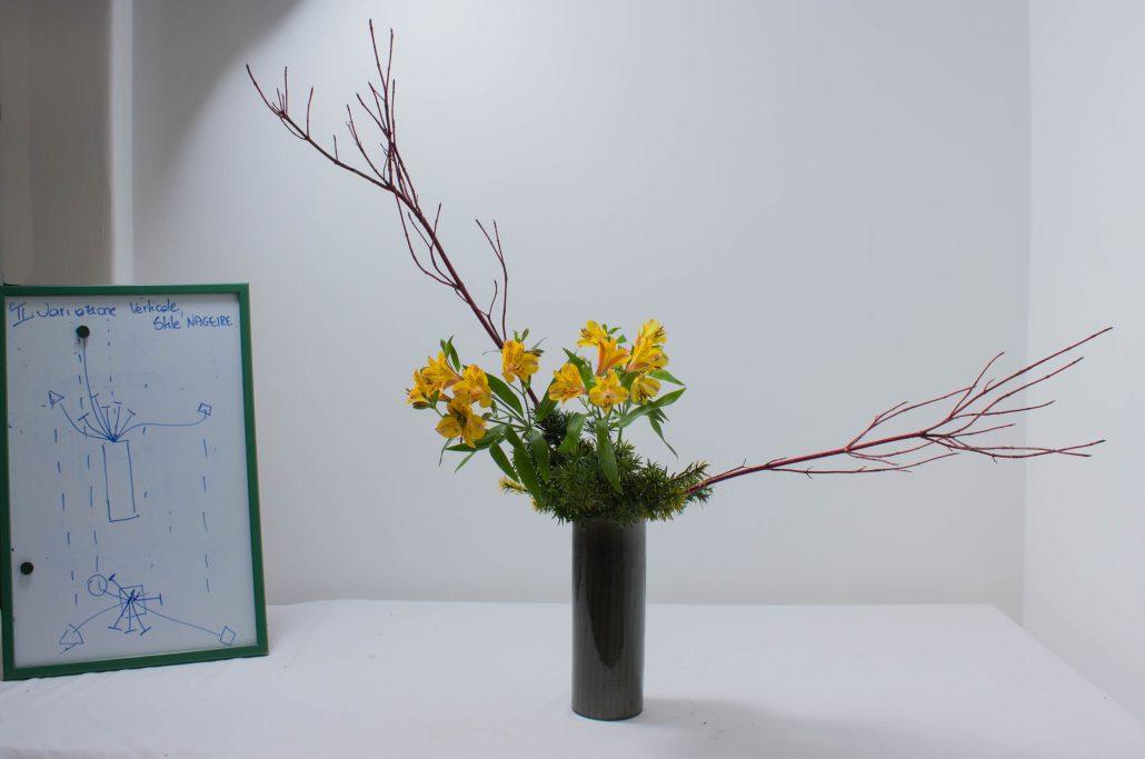 Sogetsu Ikebana Variation II Uoright Style Nageire